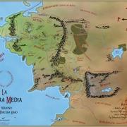 Mapa de la Tierra Media (color) de Juan M. Villa