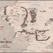 Mapa de la Tierra Media de Juan M. Villa