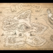 Mapa de Númenor de amegusa