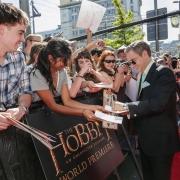 Martin Freeman firmando autógrafos