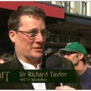 Richard Taylor en la alfombra roja