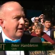 Peter Hambleton en la alfombra roja