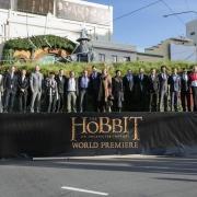El equipo de El Hobbit en la premiere