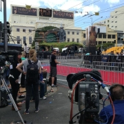 La prensa en la premiere