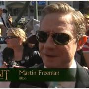 Martin Freeman en la alfombra roja