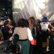Fans en la premiere en Madrid