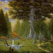 El gran árbol de Caras Galadhon