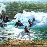 Jinetes en el Vado del Bruinen