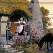 Sam y Rosita en Hobbiton