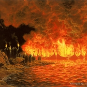 Naves ardiendo