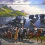 Aragorn llega a la Batalla de los Campos del Pelennor