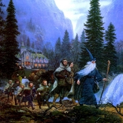 La Compañía del Anillo abandona Rivendel