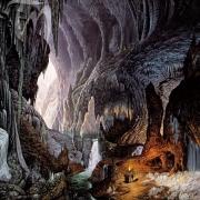 Legolas y Gimli en las Cavernas Centelleantes