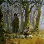 Boromir y Frodo en Amon Hen