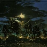Gandalf se enfrenta a los Nazgûl en la Cima de los Vientos