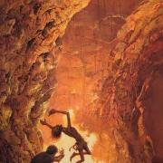 Frodo y Gollum en la Grieta del Destino