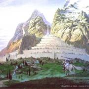 Gandalf y Pippin llegan a Minas Tirith