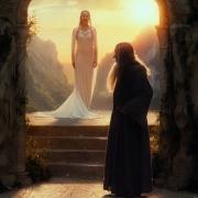 Galadriel y Mithrandir en Rivendel