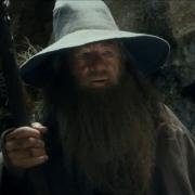 Gandalf y Bilbo antes de llegar a Rivendel