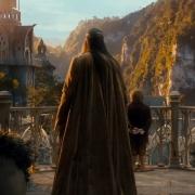 Elrond y Bilbo en Rivendel