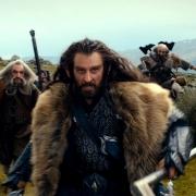 Thorin, Óin, Balin y Dwalin huyendo