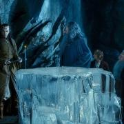 Thorin, Elrond, Bilbo, Gandalf y Balin en Rivendel