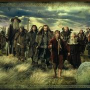 Bilbo, Gandalf y los Enanos