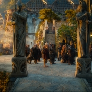 Bilbo, Gandalf y los Enanos llegan a Rivendel
