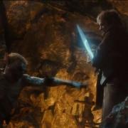 Bilbo lucha con un Trasgo