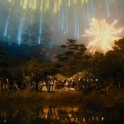 Los fuegos de Gandalf en Hobbiton
