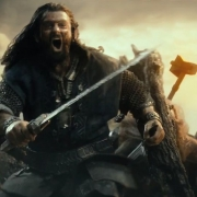 Dwalin y Thorin en plena batalla