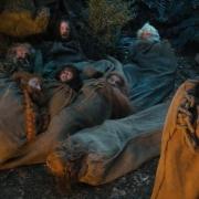 Bombur, Óin, Thorin, Kili, Glóin. Balin y Bilbo
