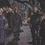 Gandalf, Ori, Dori, Nori, Bifur, Bilbo, Dwalin y Glóin