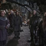 Gandalf, Ori, Óin, Dori, Nori, Bifur, Bilbo, Dwalin y Glóin