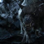 Uno de los Wargos de El Hobbit