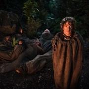 Bilbo y los Enanos en sacos