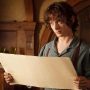 Frodo Bolsón habla con su tío Bilbo