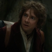 Bilbo atravesando las montañas
