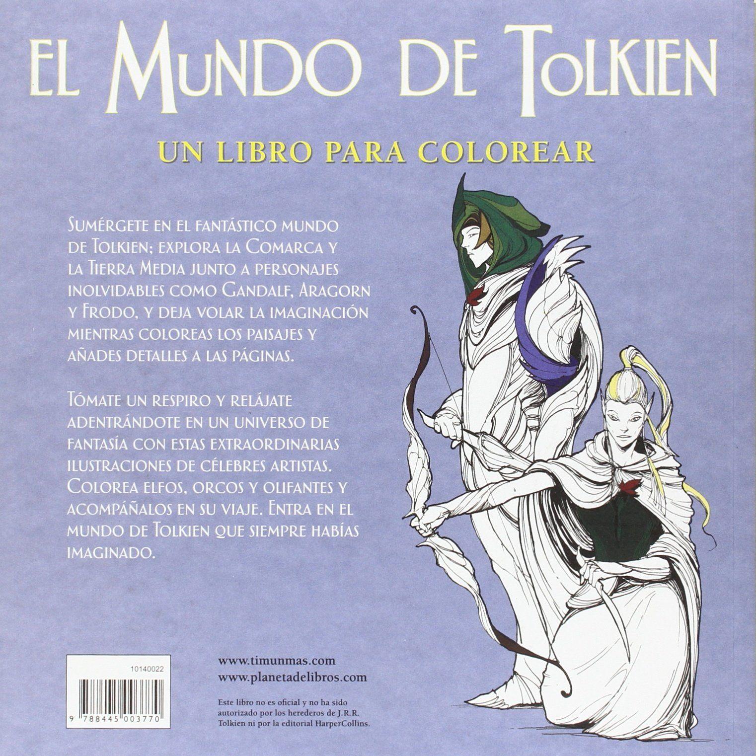 El mundo de Tolkien. Un libro para colorear   El Anillo Único